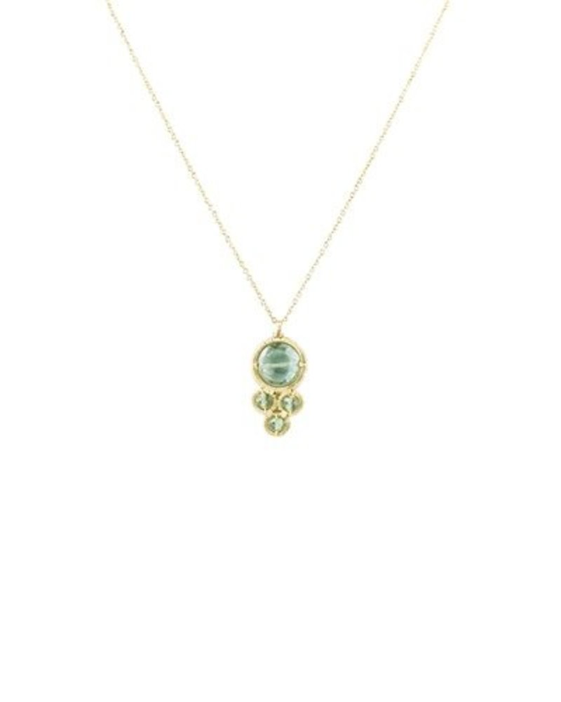 Dana Kellin Fashion Teal and Green Quartz Necklace