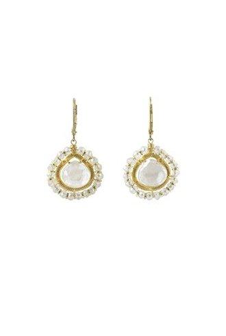 Dana Kellin Fashion Milk Quartz Earrings