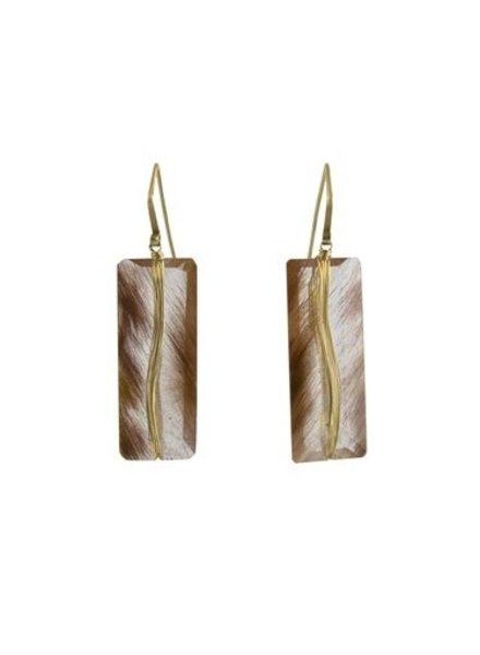 Dana Kellin Fine 14k Rutilated Quartz Earrings