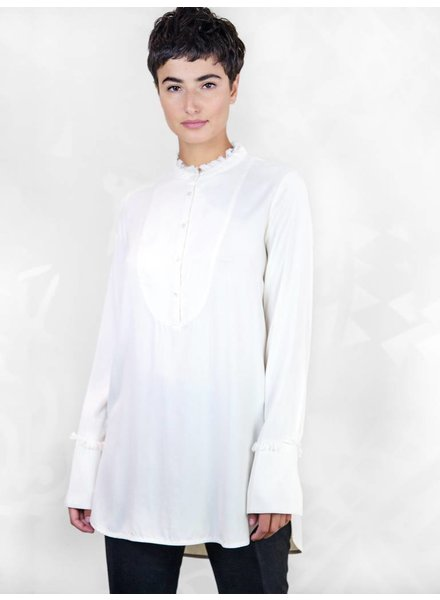 Raquel Allegra Tuxedo Shirt Ivory