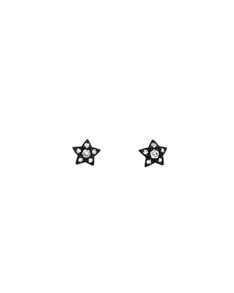 KISMET White Diamond Star Studs