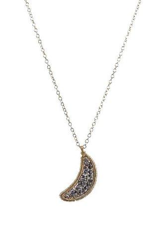 Dana Kellin Fashion Beaded Moon Necklace