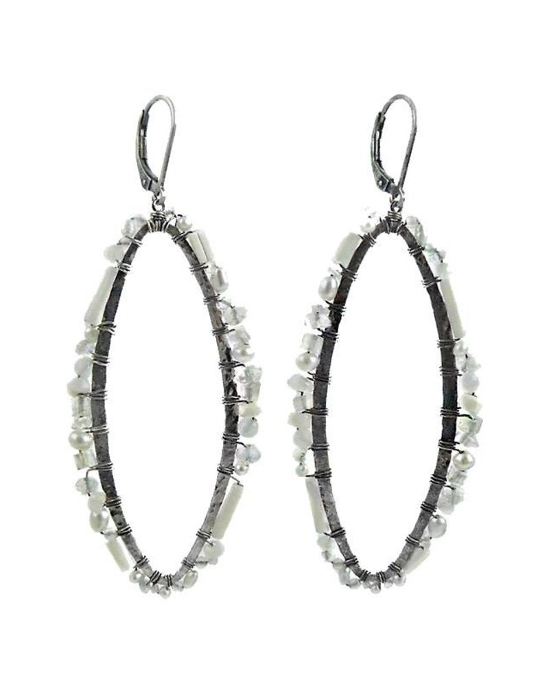 senso earrings tm oval ippolita silver in connected sterling