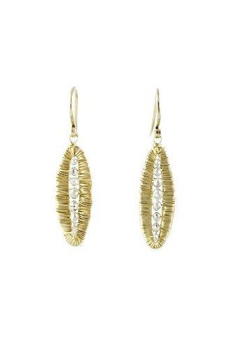 Dana Kellin Fine 14k Grey Diamond Pod Earrings