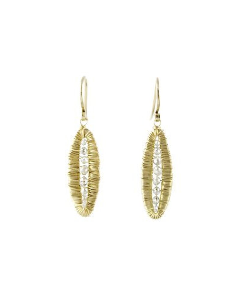 Dana Kellin Fine 14k Grey Diamond Pod Earrings