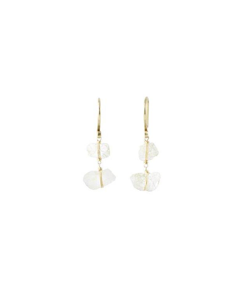 Dana Kellin Fine 14k Diamond Slice Earrings