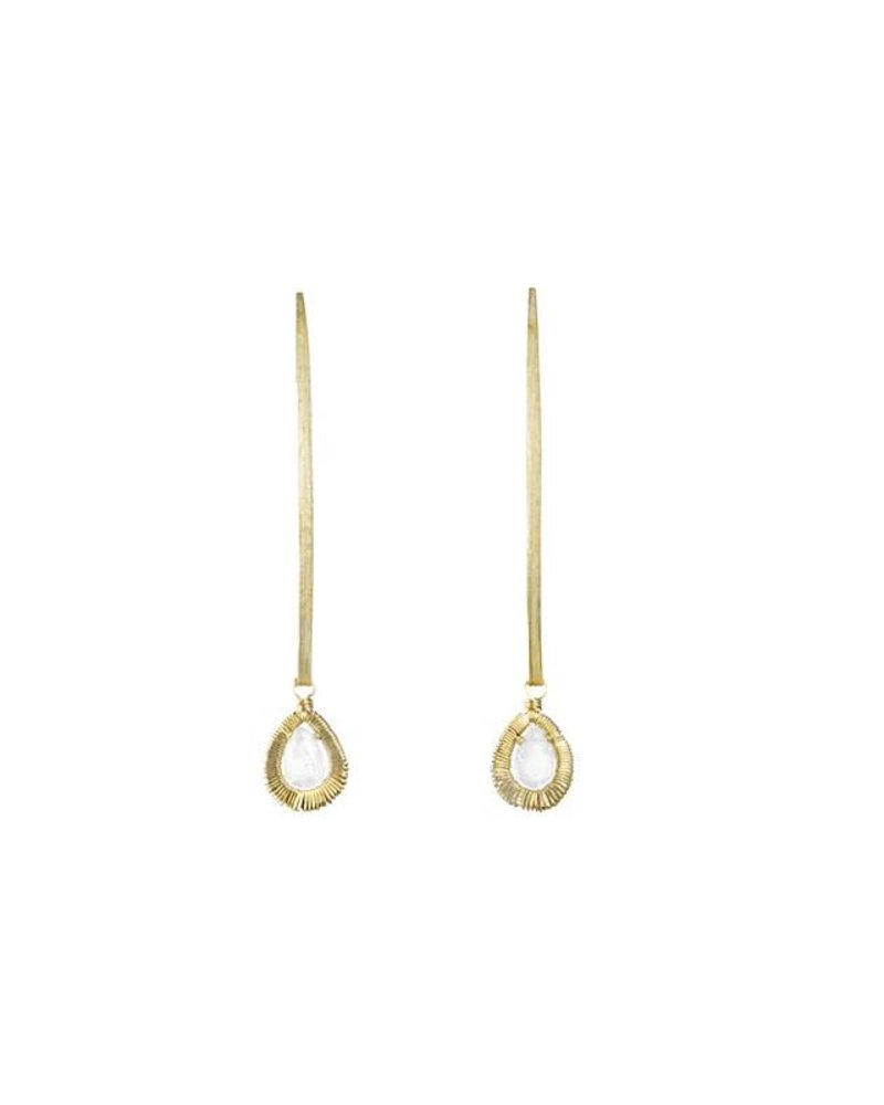 Dana Kellin Fine 14k Framed Saloni Dangle Earrings