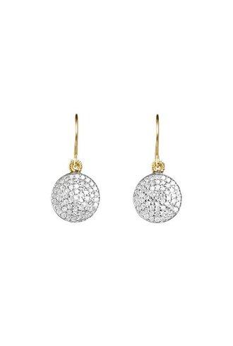 Dana Kellin Fine 14k Pave Diamond Circle Earrings