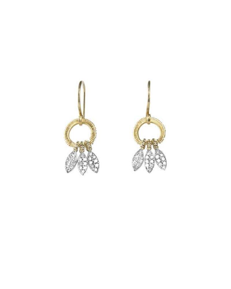 Dana Kellin Fine 14k Diamond Feather Earrings