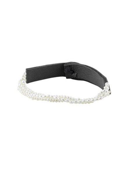 Renee Garvey Triple Strand Keshi Pearl Bracelet