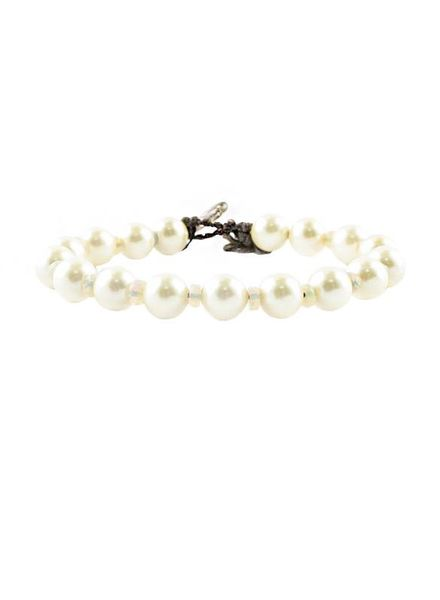 Renee Garvey Yellow Pearls and Tourmaline Bracelet