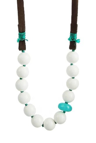 Renee Garvey White Agate Necklace