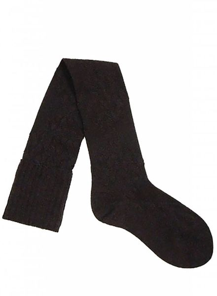 Pantherella Diamond Knee High Socks Chocolate