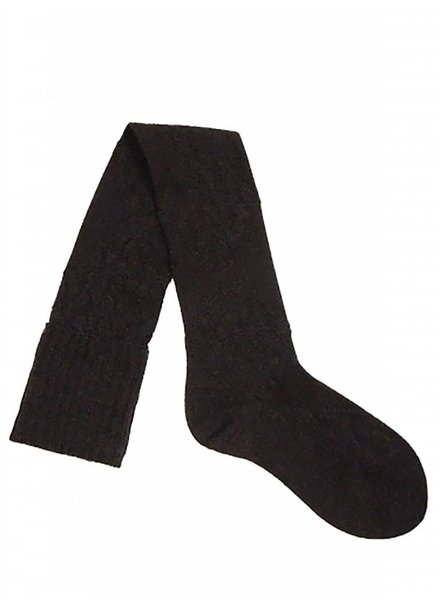 Pantherella Diamond Knee High Socks Chocolate