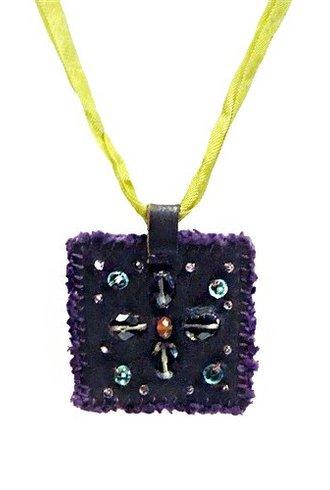 Beth Orduna Design Mix Stone Square Necklace