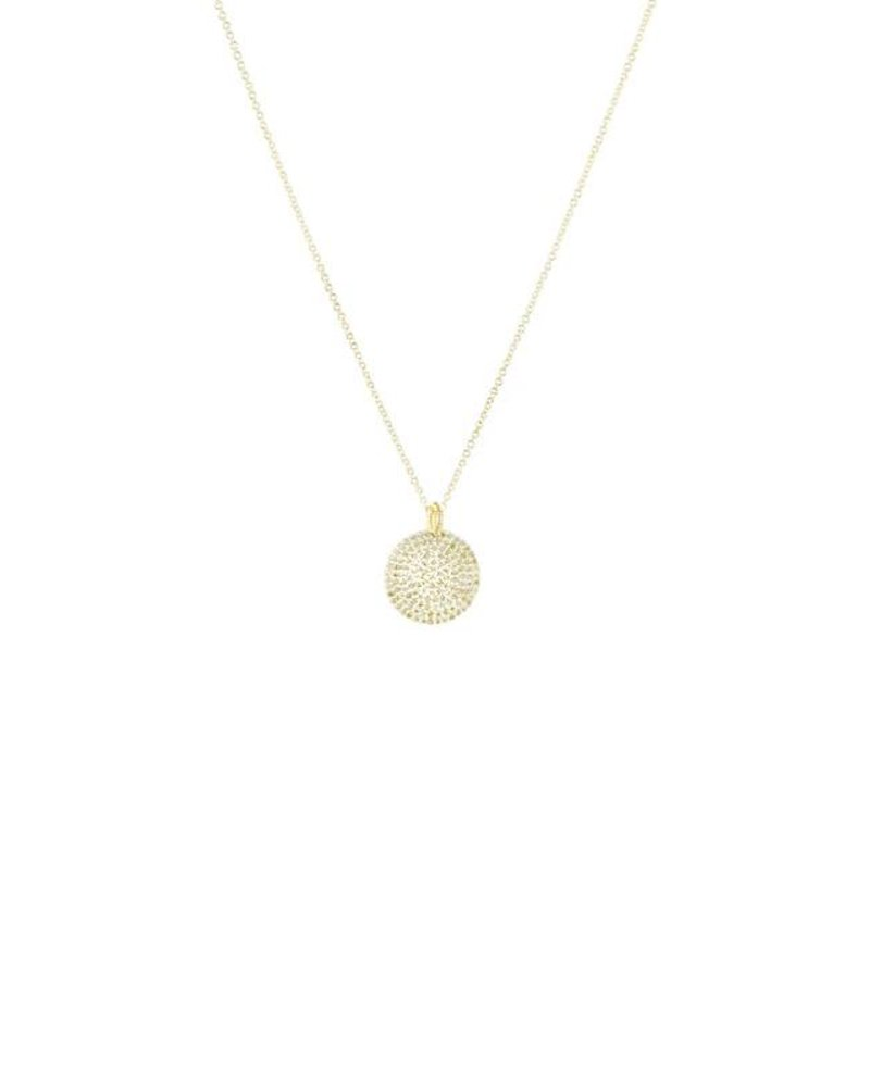 Dana Kellin Fine 14k Pave Diamond Circle Necklace
