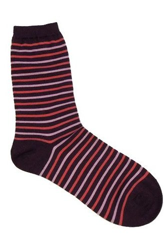 Pantherella Madeline Stripe Cotton Socks Black