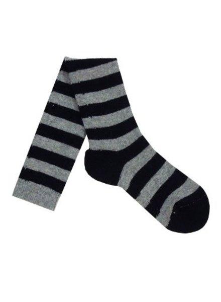 Pantherella Long Stripe Socks Black