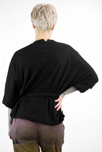 Raquel Allegra Kimono Wrap Black