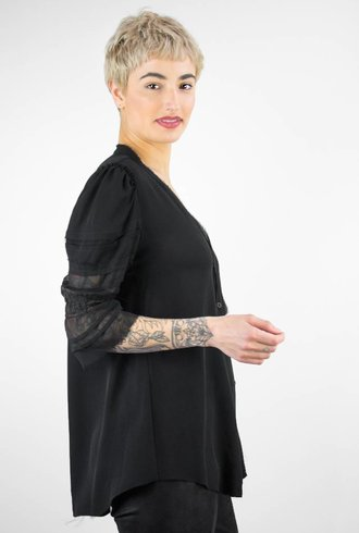 Gary Graham Abstract Vintage Sleeve Top