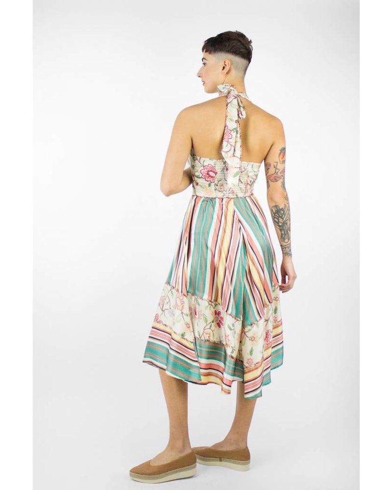 Burning Torch Camelia Dress Print