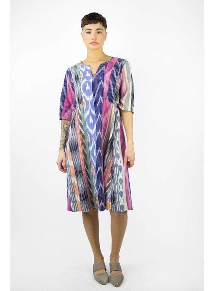 Warm Morning Dew Ikat Dress Multi