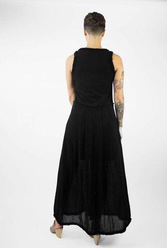 Raquel Allegra Printed Medley Dress Black