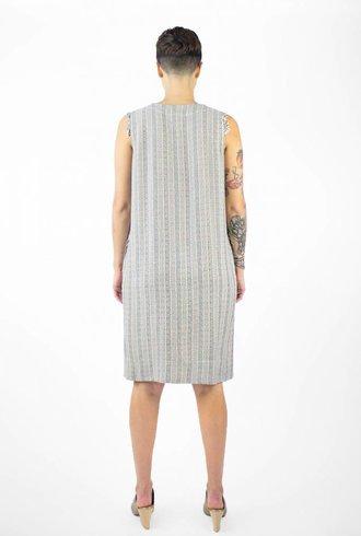 Raquel Allegra Tank Shirt Dress Cream Stripe