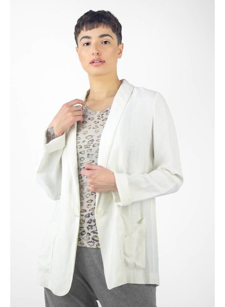 Raquel Allegra Linen Tencel Blazer Dirty White