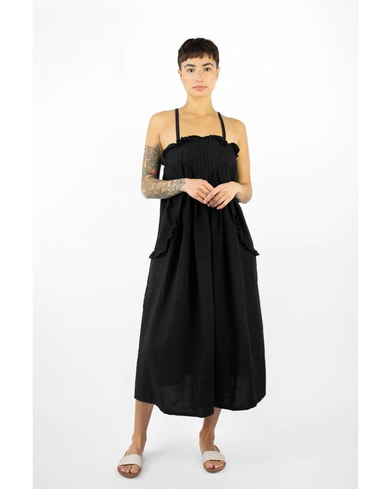 The Great - The Tulip Dress Black - Women\'s Clothing Boutique, Seattle