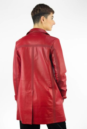 Whitcomb Nephin Leather Rain Trench