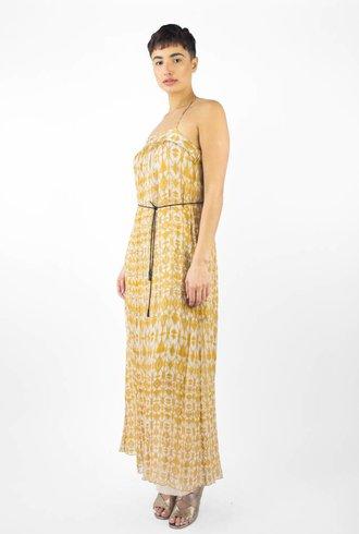 Pomandere Belted Waist Tank Dress Mustard