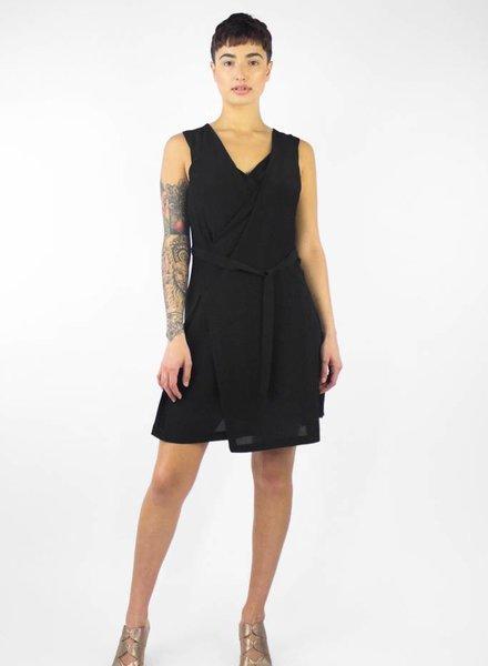 Pomandere Sleeveless V-neck Dress Noir