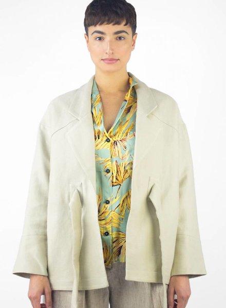 Pomandere Waist Tie Jacket Natural