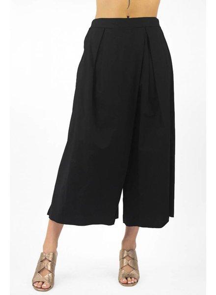 Pomandere Pleated Wide Leg Pant Black