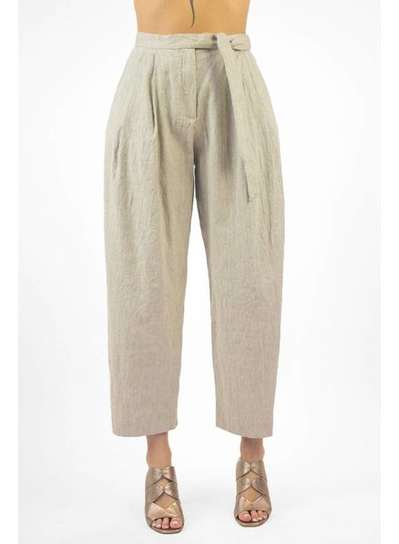Pomandere Tapered Waist Tie Pant Natural