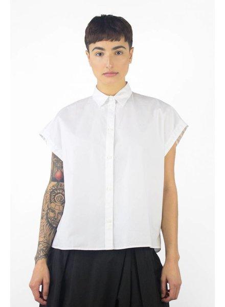 Pomandere Short Sleeve Button Down Shirt White