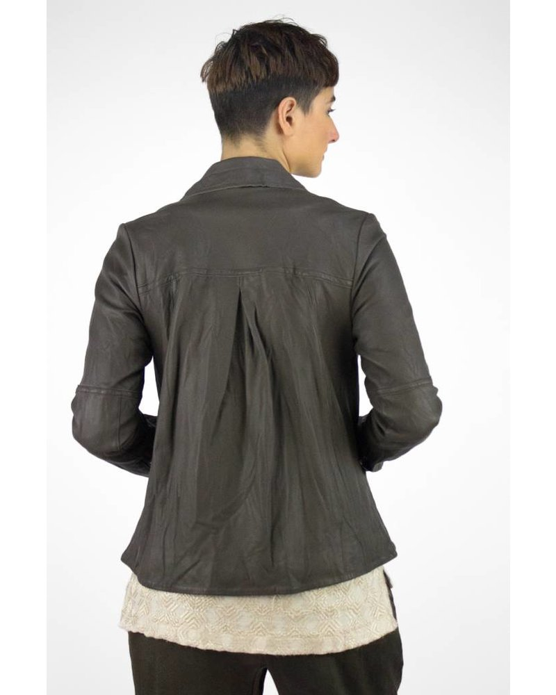 Burning Torch Washed Leather Jacket