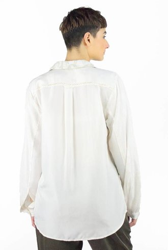 Burning Torch Aqueous Blouse Natural