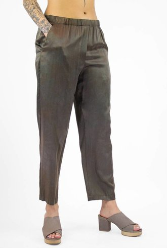 Raquel Allegra Relaxed Charmeuse Cloud Dye Pant Taupe