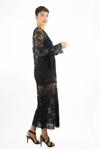 Loyd/Ford Lace Long Sleeve Dress Black