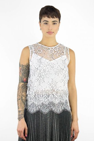 Loyd/Ford Lace Shell Top White