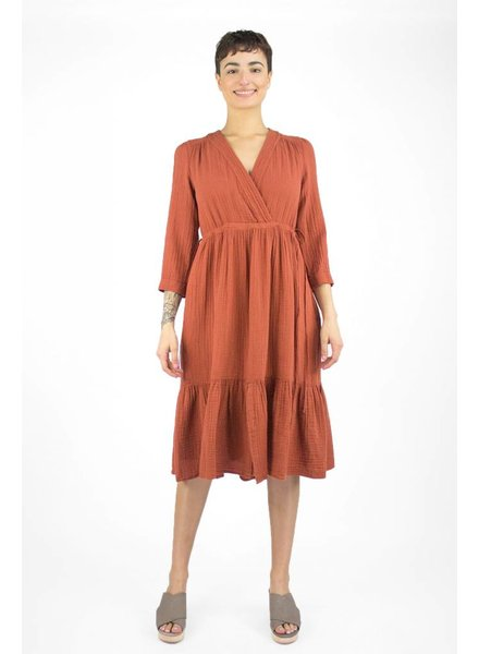 Xirena Layla Gauze Dress Ginger