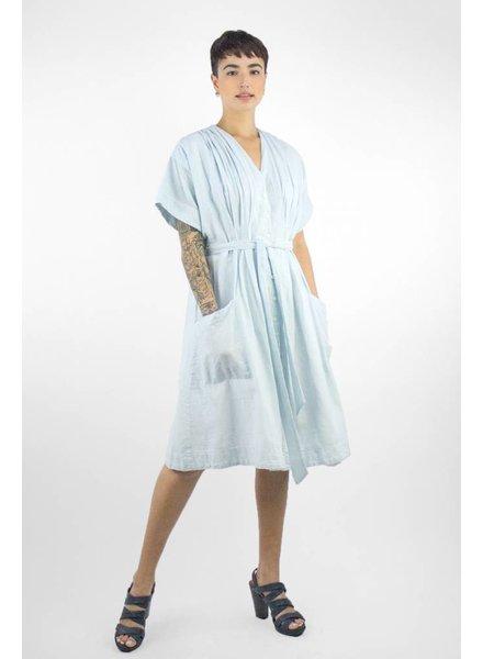 Trovata Sophie V-neck Shirtdress Aqua Stripe