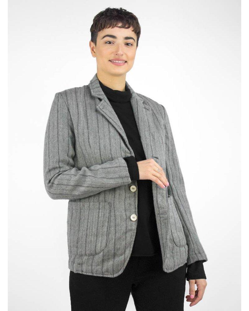 Bsbee Wool Stripe Jacket Light Grey