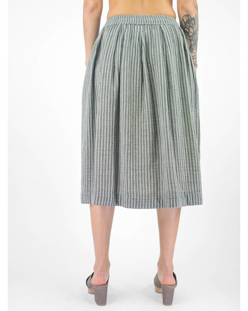 Bsbee Sorana Stripe Skirt Light Grey