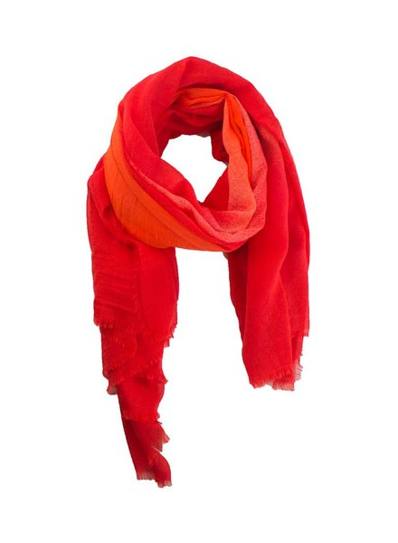 Destin Cobo Sfumato Quadra Scarf Red Sunset