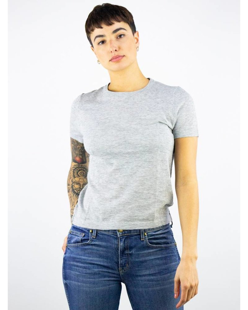 360 Sweater Caitlin Cotton Tee Heather Grey