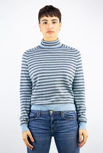 360 Sweater Erika Turtleneck Grey Bluebell