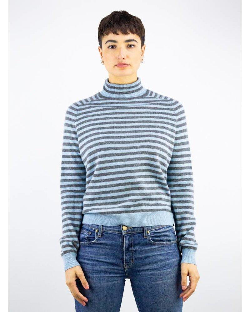 360 Sweater Erika Turtleneck Grey Bluebell